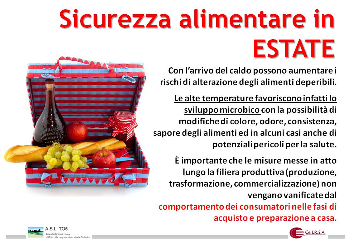 sicurezza alimentare in estate